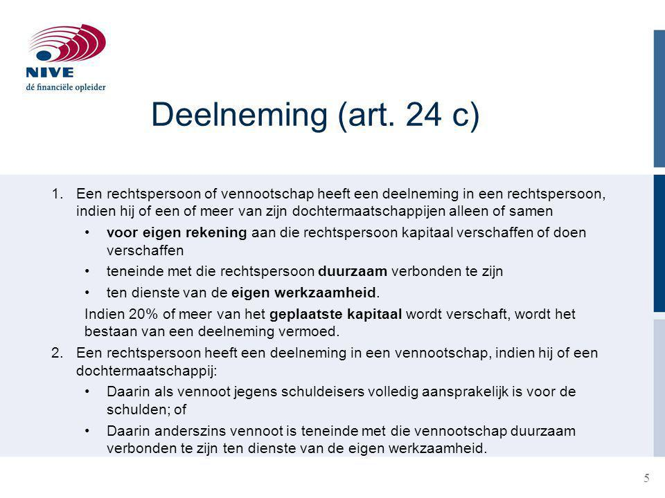 Deelneming (art. 24 c)