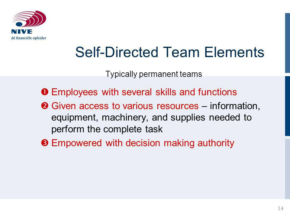 Self-Directed Team Elements