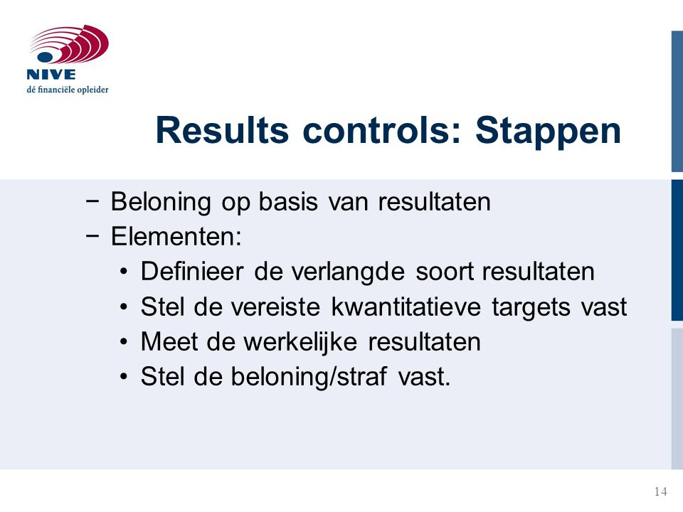 Results controls: Stappen