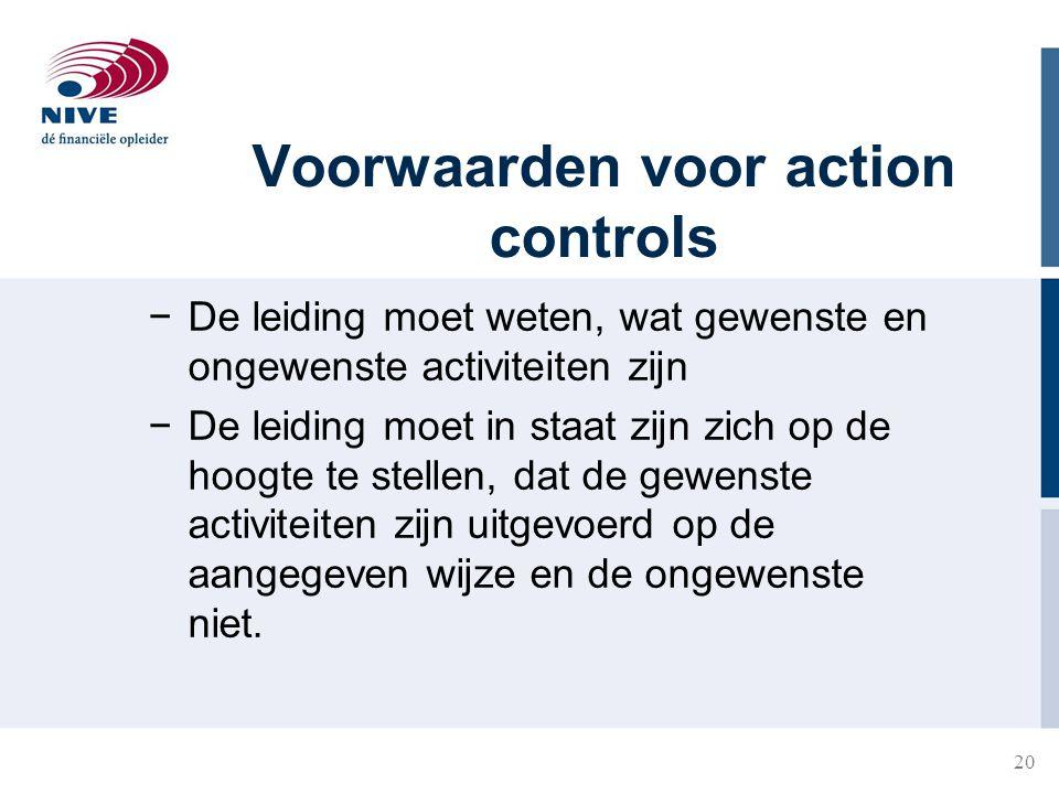 Voorwaarden voor action controls