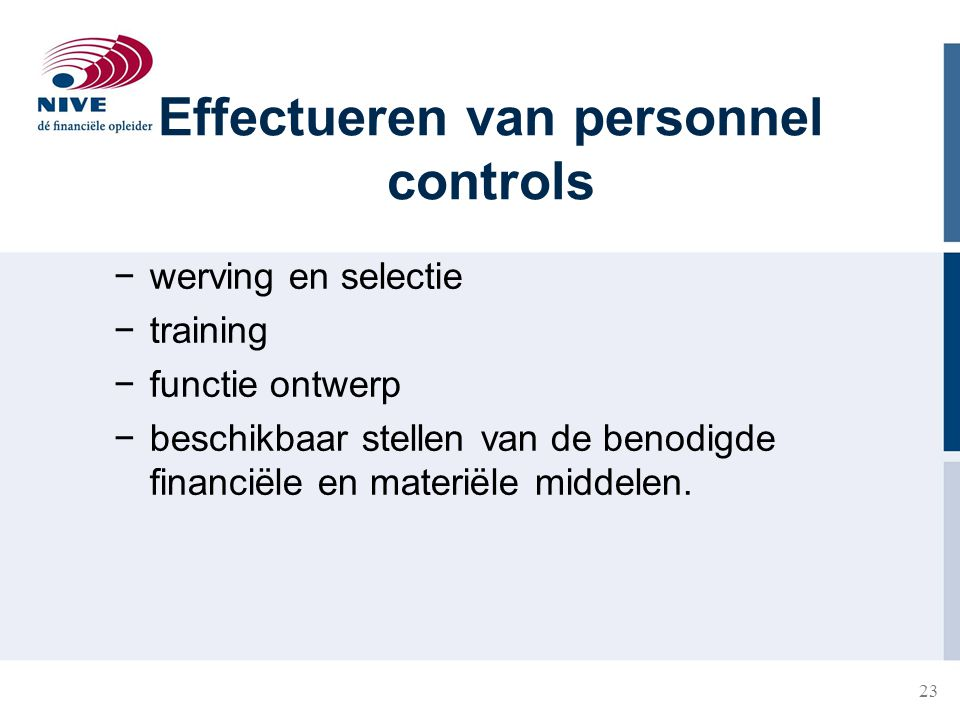 Effectueren van personnel controls