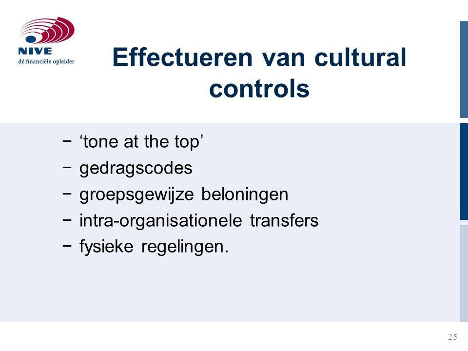 Effectueren van cultural controls