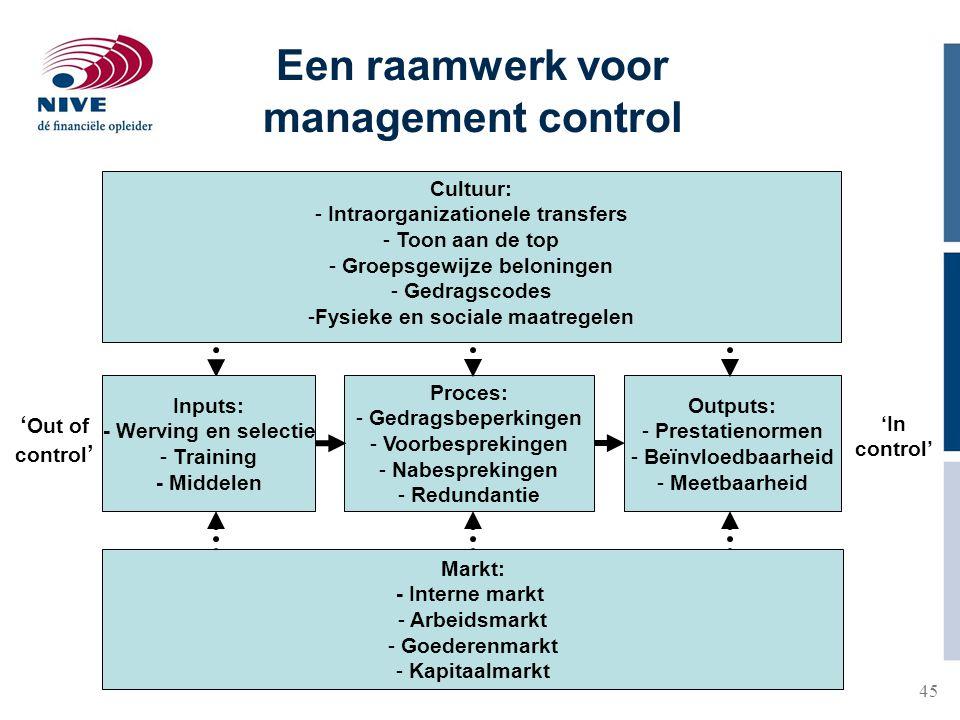 Een raamwerk voor management control