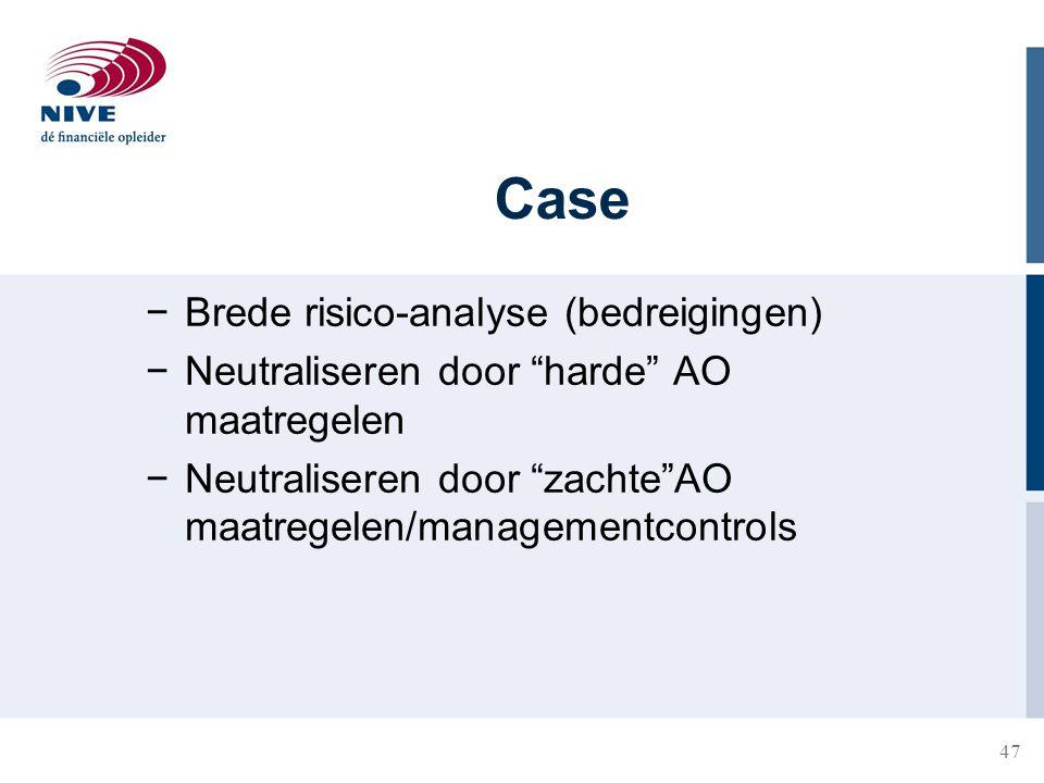 Case Brede risico-analyse (bedreigingen)