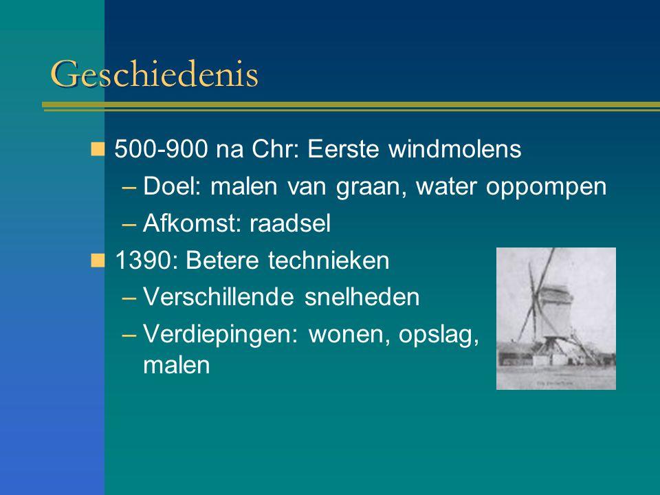 Geschiedenis 500-900 na Chr: Eerste windmolens