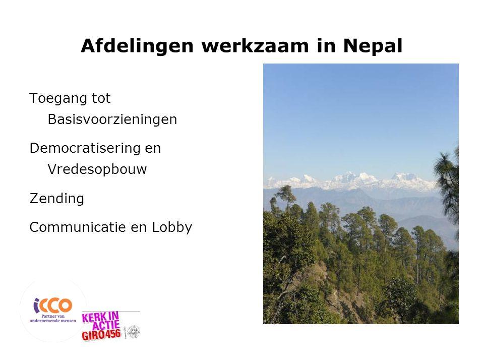 Afdelingen werkzaam in Nepal