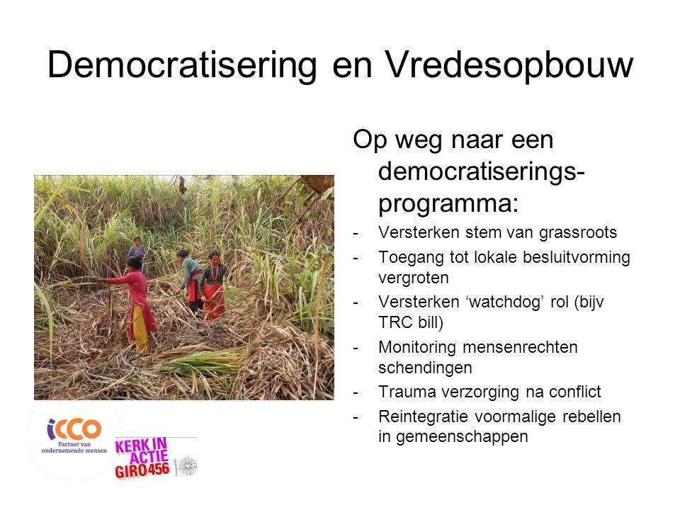 Democratisering en Vredesopbouw