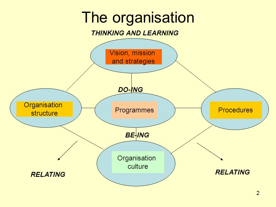 The organisation THINKING AND LEARNING Vision, mission and strategies