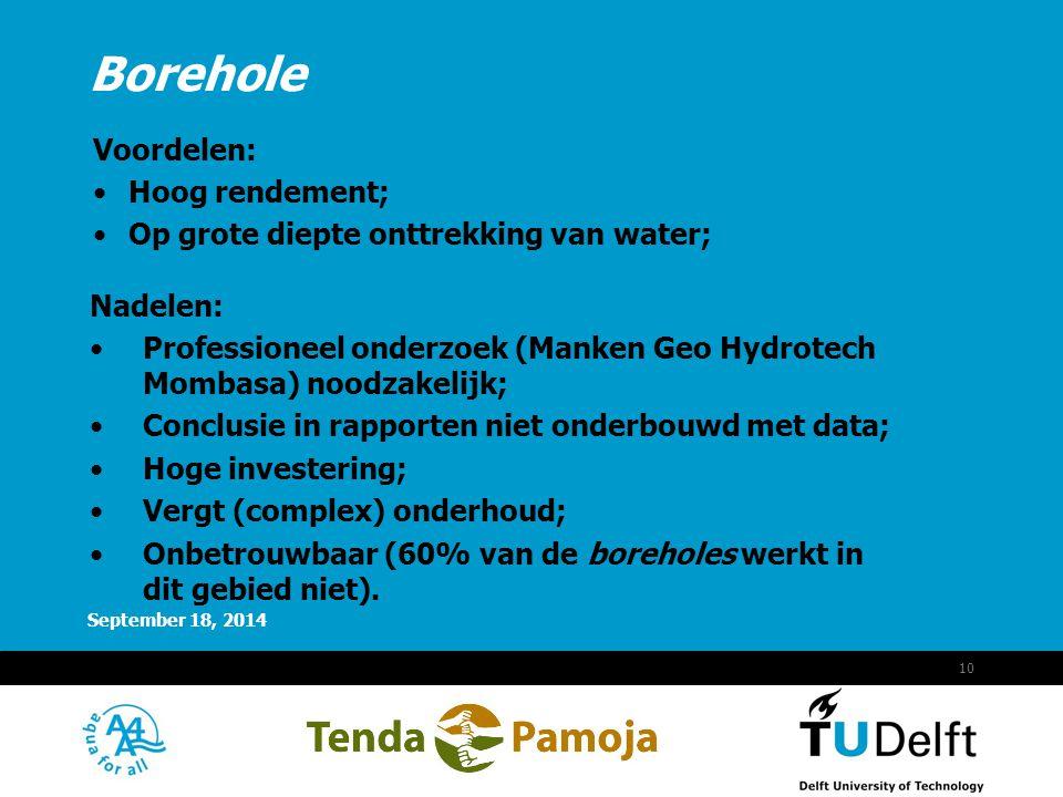 Voordelen: Hoog rendement; Op grote diepte onttrekking van water;