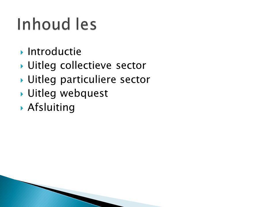 Inhoud les Introductie Uitleg collectieve sector