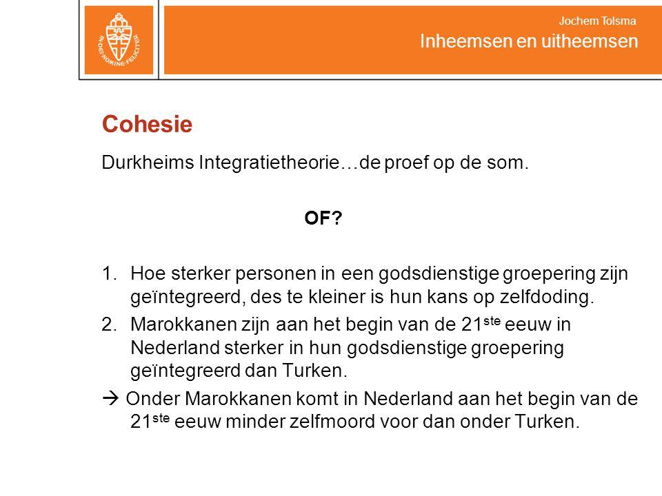 Cohesie Durkheims Integratietheorie…de proef op de som. OF