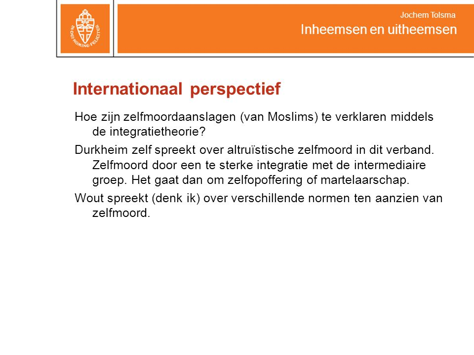 Internationaal perspectief