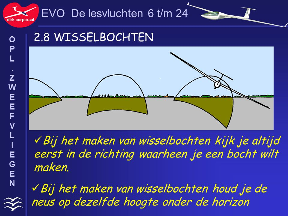 EVO De lesvluchten 6 t/m 24 2.8 WISSELBOCHTEN
