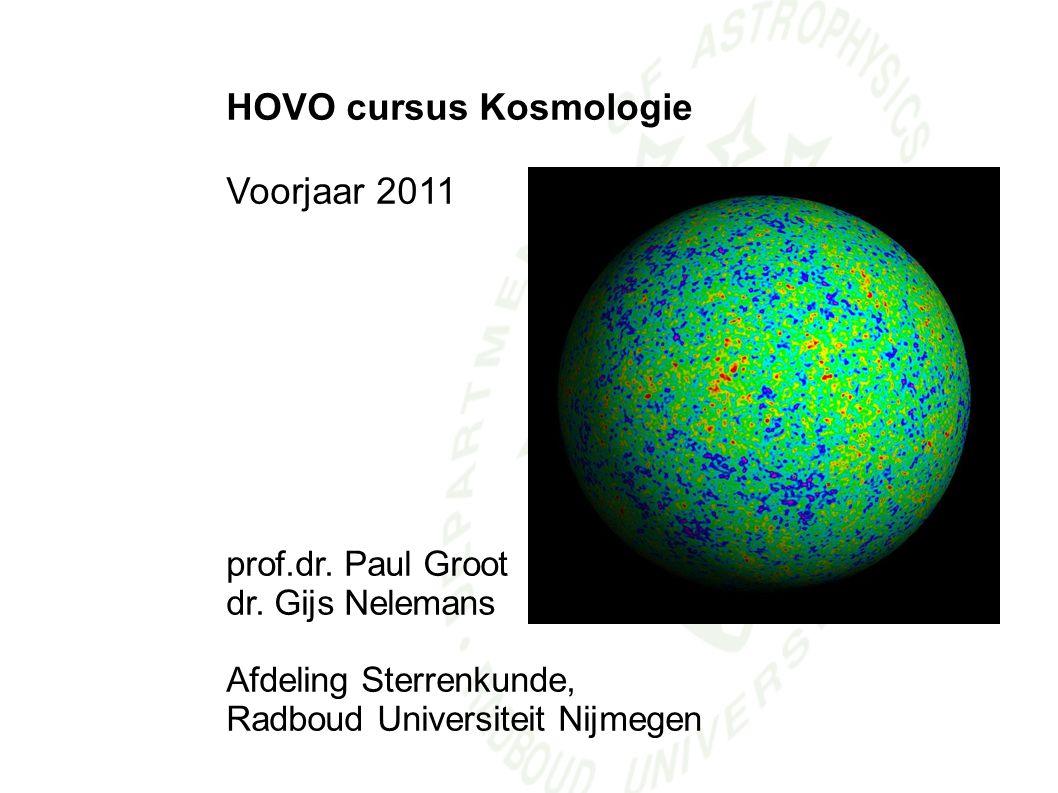 HOVO cursus Kosmologie Voorjaar 2011
