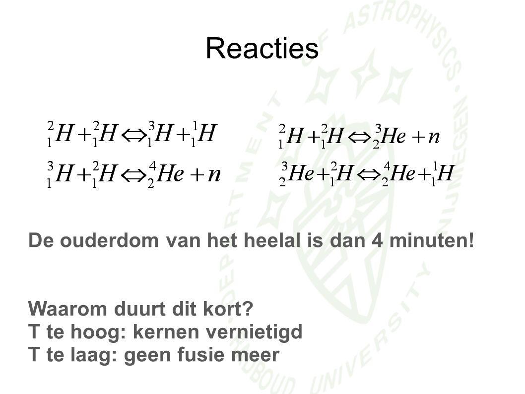 Reacties De ouderdom van het heelal is dan 4 minuten!