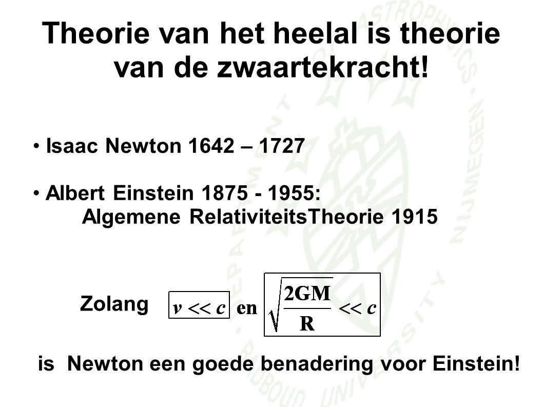 Theorie van het heelal is theorie van de zwaartekracht!