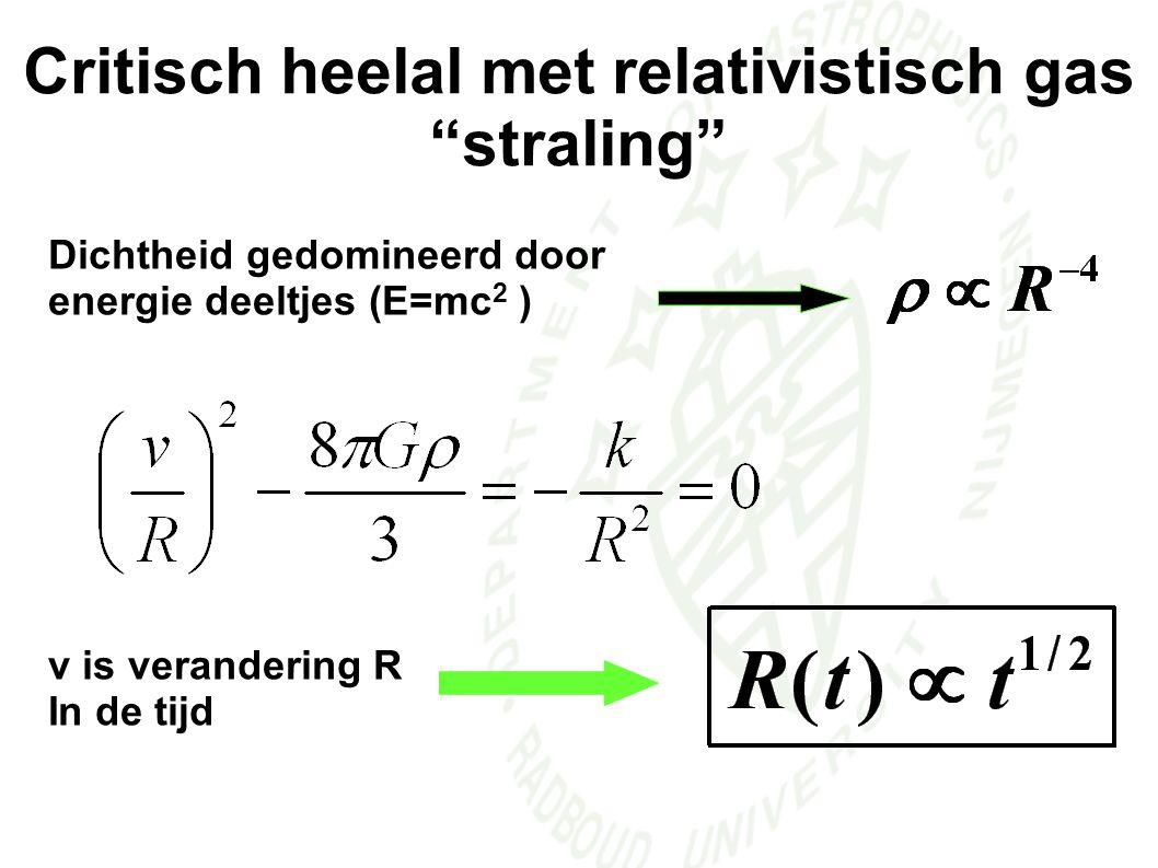 Critisch heelal met relativistisch gas