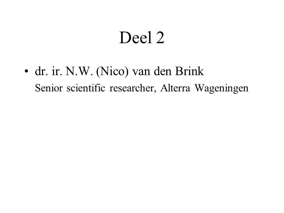 Deel 2 dr. ir. N.W. (Nico) van den Brink