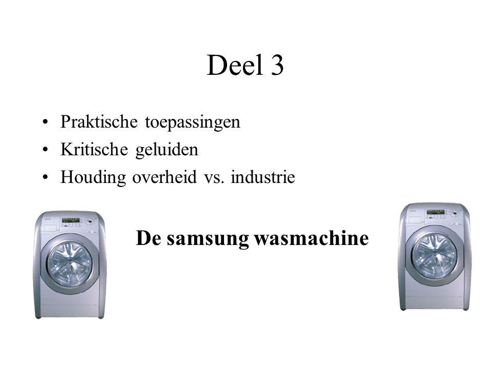 Deel 3 De samsung wasmachine Praktische toepassingen