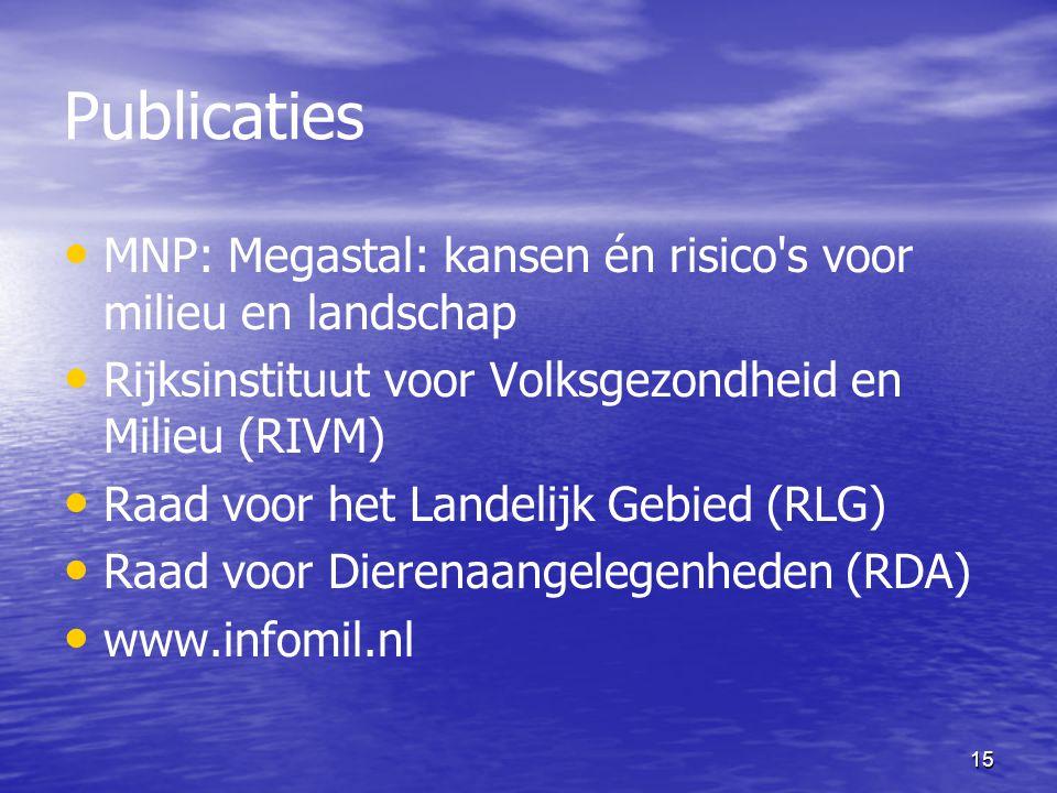 Publicaties MNP: Megastal: kansen én risico s voor milieu en landschap
