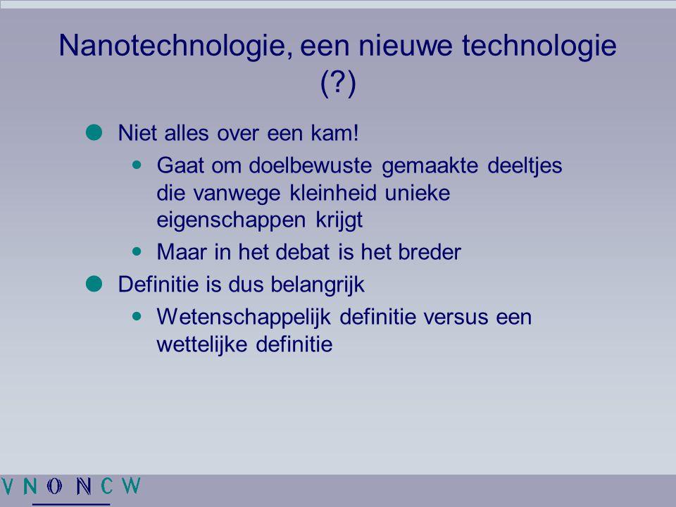 Nanotechnologie, een nieuwe technologie ( )