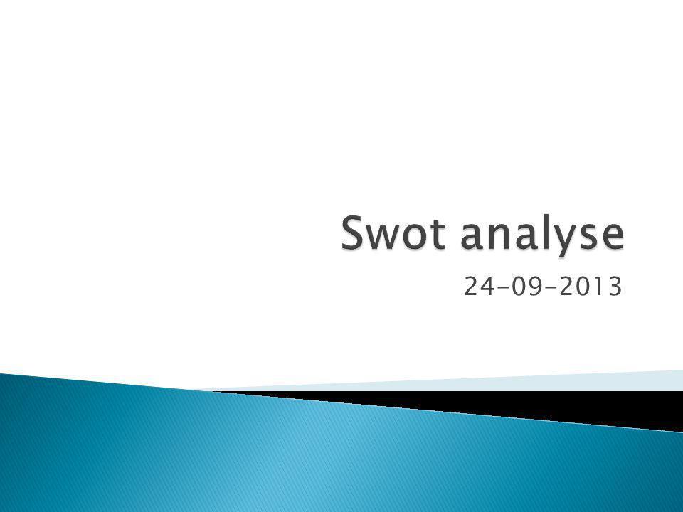 Swot analyse 24-09-2013