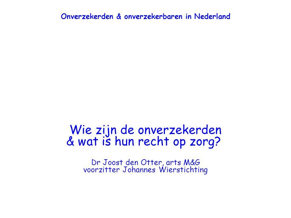 Onverzekerden & onverzekerbaren in Nederland
