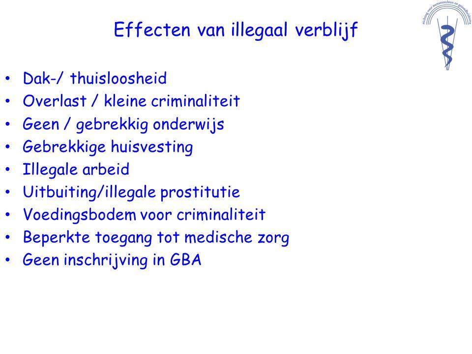 Effecten van illegaal verblijf