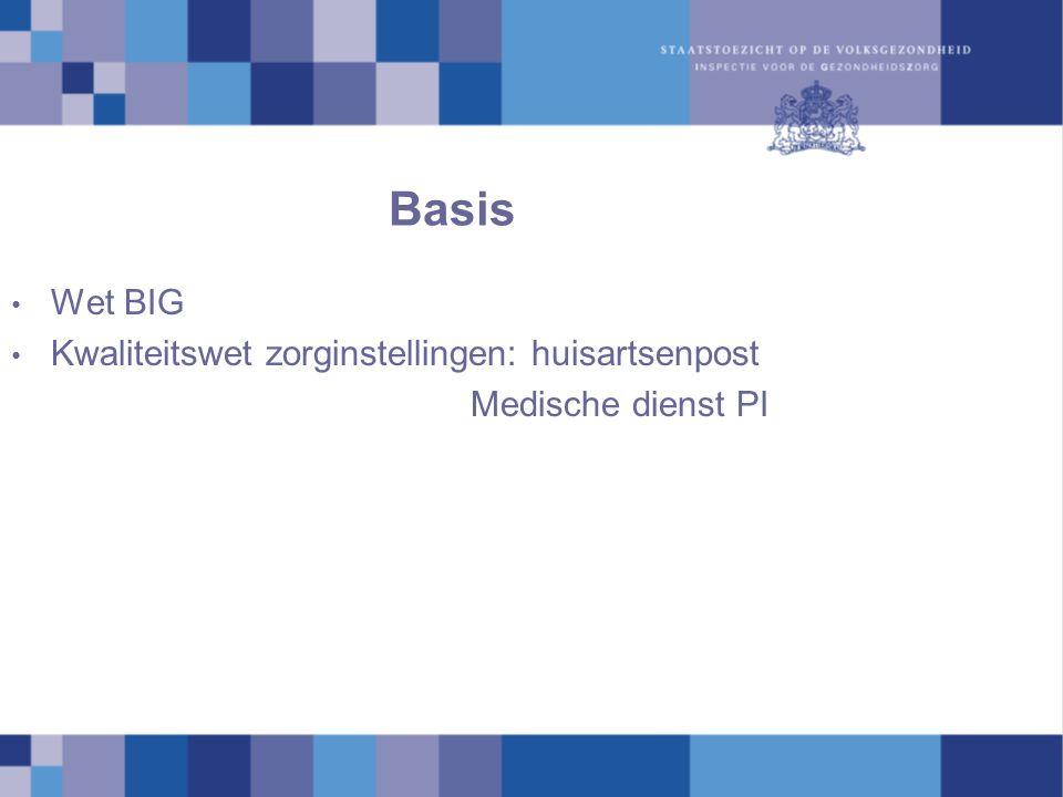 Basis Wet BIG Kwaliteitswet zorginstellingen: huisartsenpost