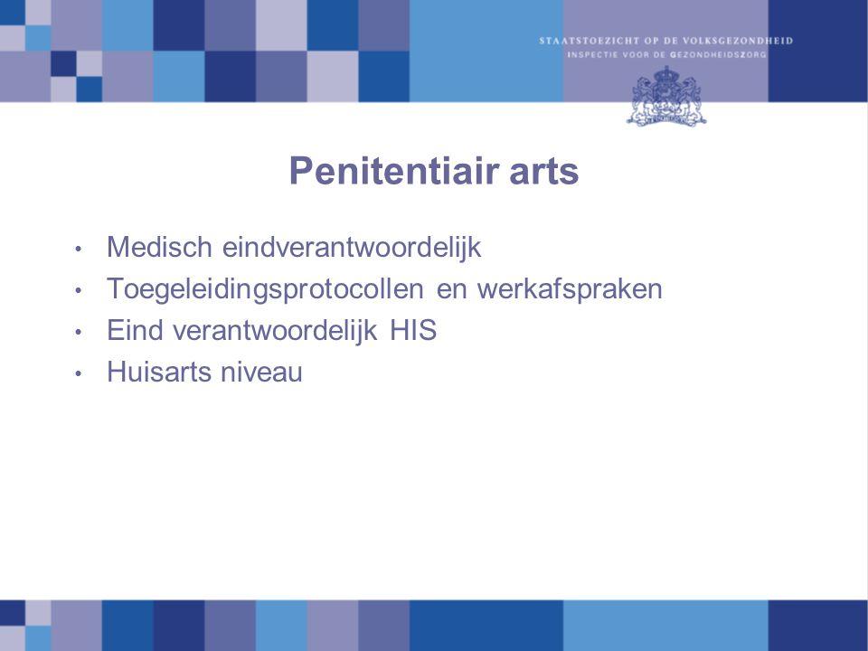 Penitentiair arts Medisch eindverantwoordelijk