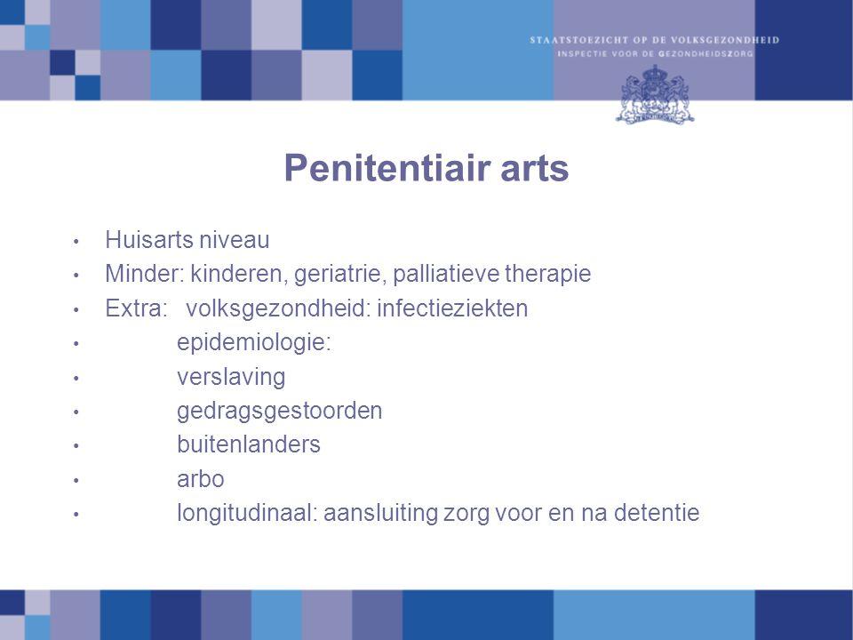 Penitentiair arts Huisarts niveau