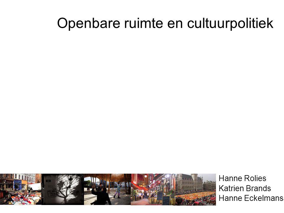 Openbare ruimte en cultuurpolitiek