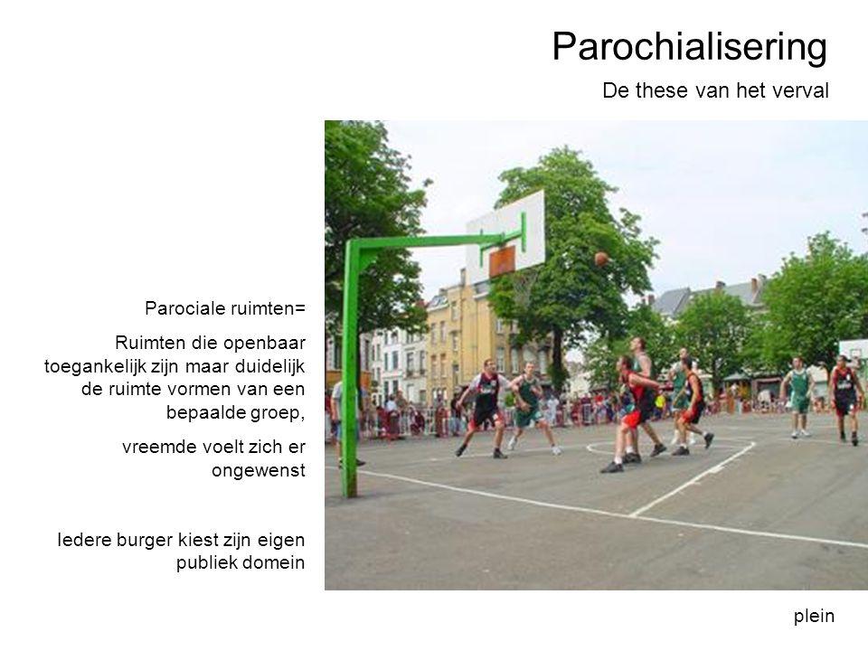 Parochialisering De these van het verval Parociale ruimten=
