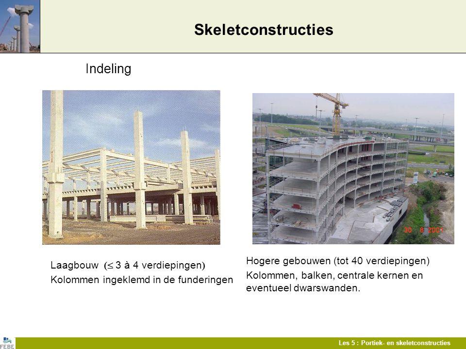 Skeletconstructies Indeling Hogere gebouwen (tot 40 verdiepingen)