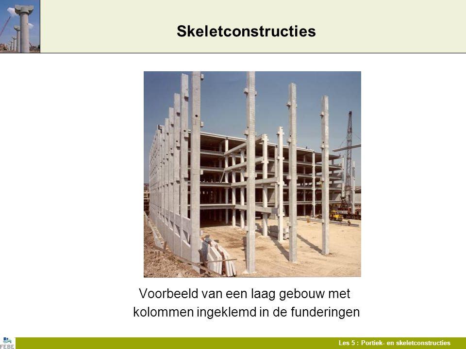 Skeletconstructies Voorbeeld van een laag gebouw met