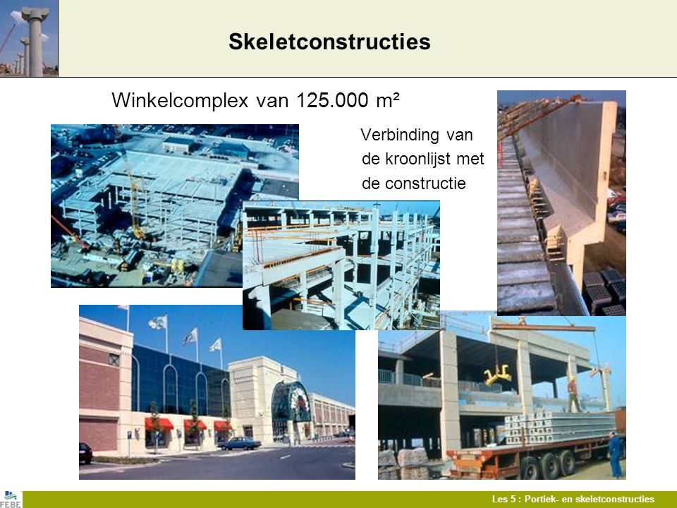Skeletconstructies Winkelcomplex van 125.000 m² de kroonlijst met