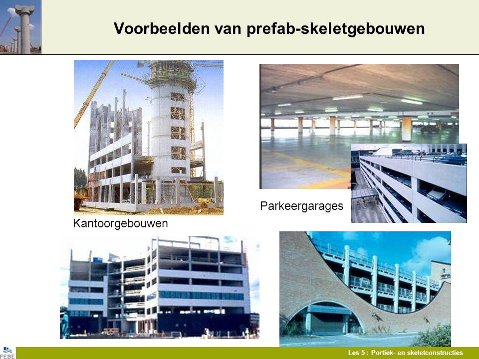 Voorbeelden van prefab-skeletgebouwen