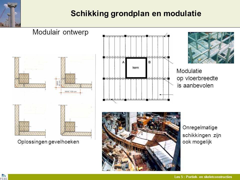 Schikking grondplan en modulatie