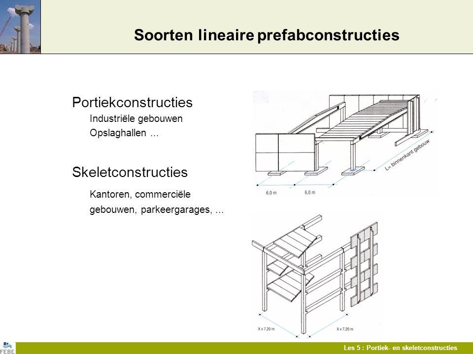Soorten lineaire prefabconstructies