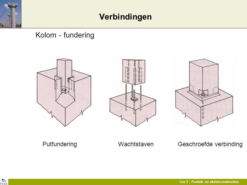 Verbindingen Kolom - fundering