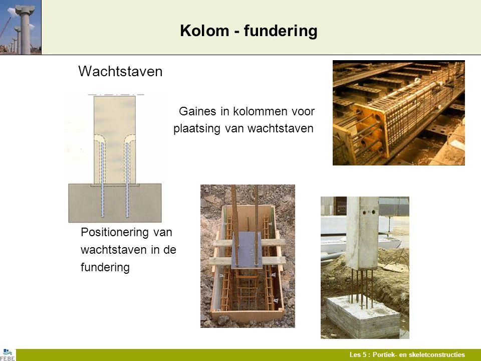 Kolom - fundering Wachtstaven plaatsing van wachtstaven
