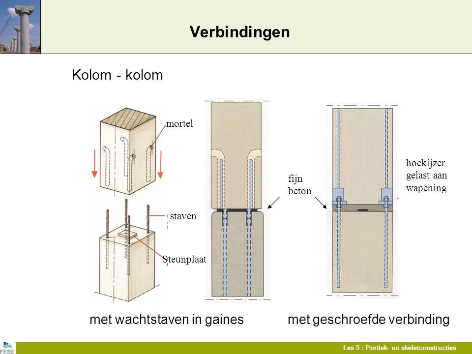 Verbindingen Kolom - kolom