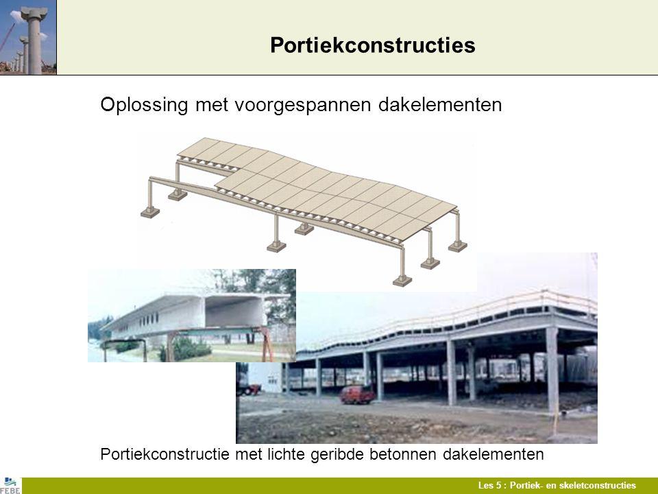 Portiekconstructies Oplossing met voorgespannen dakelementen