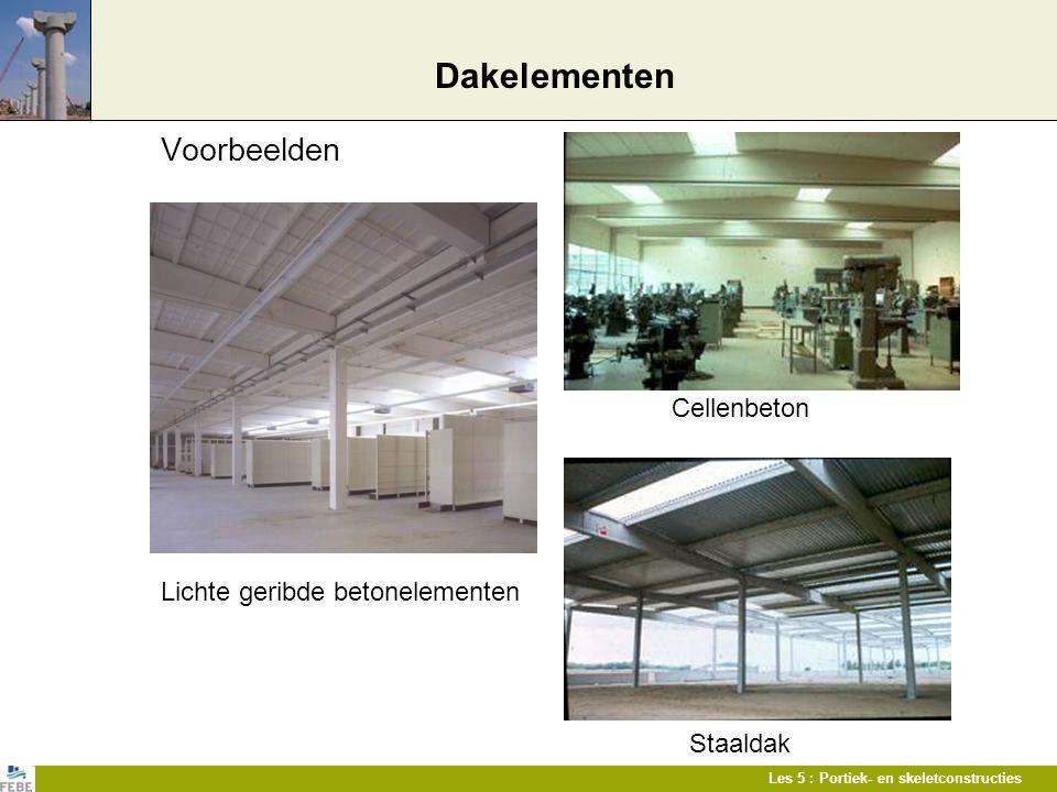 Dakelementen Voorbeelden Cellenbeton Lichte geribde betonelementen