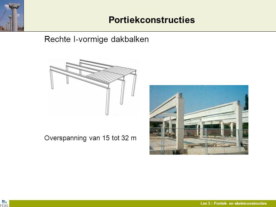 Portiekconstructies Rechte I-vormige dakbalken