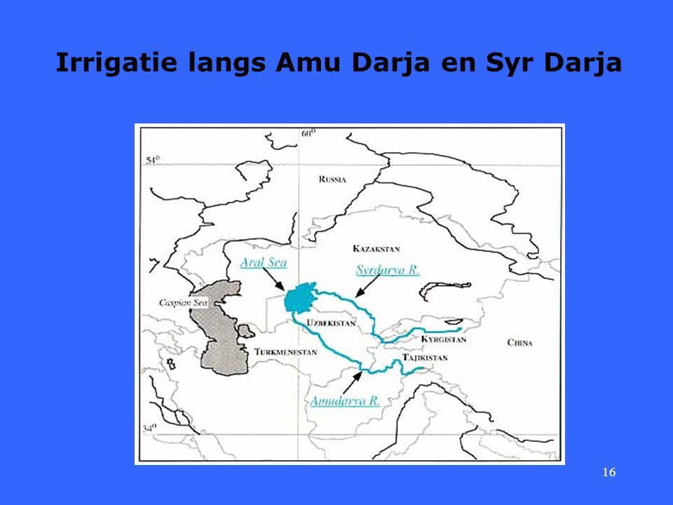 Irrigatie langs Amu Darja en Syr Darja