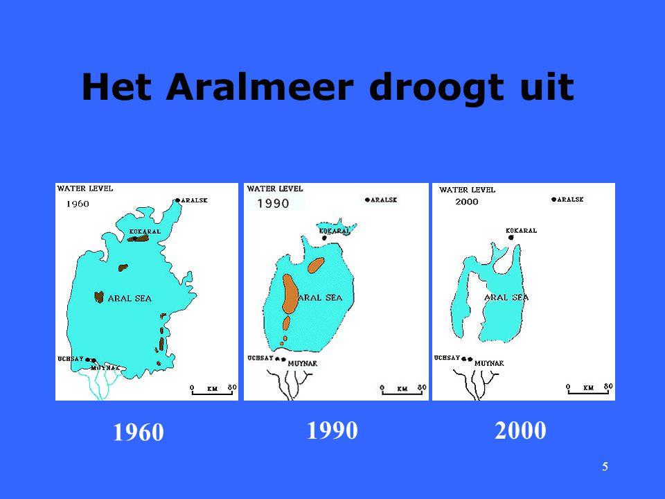 Het Aralmeer droogt uit