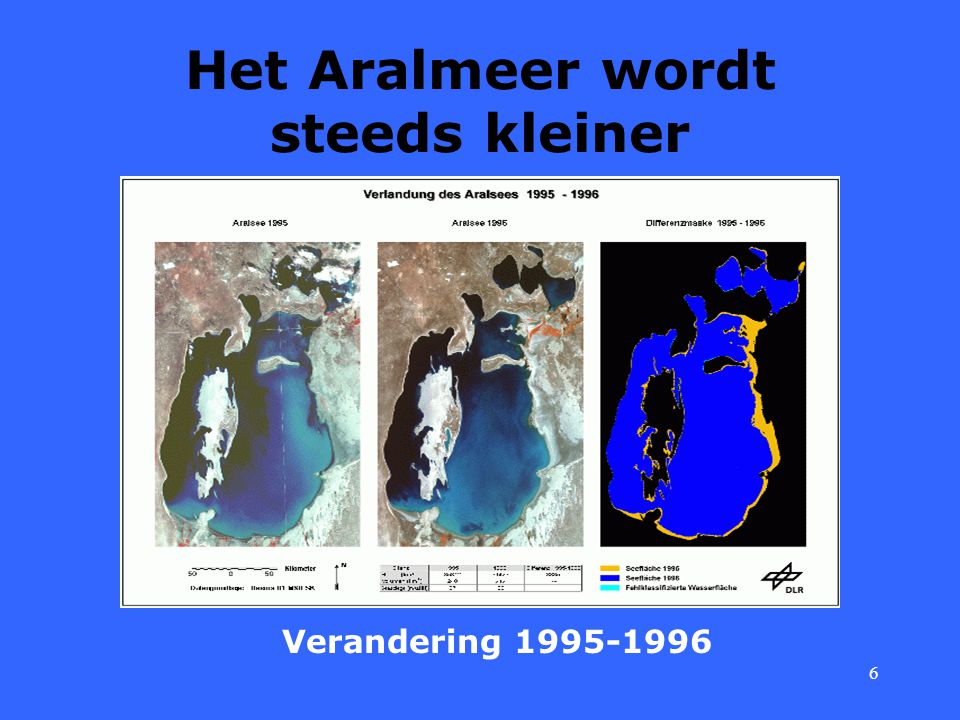 Het Aralmeer wordt steeds kleiner