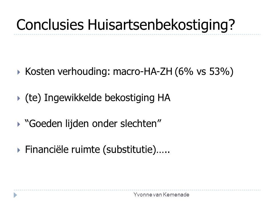 Conclusies Huisartsenbekostiging
