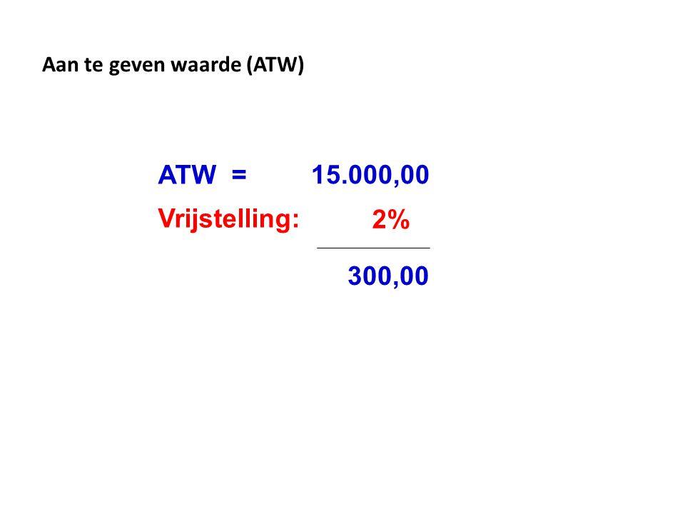 Aan te geven waarde (ATW)